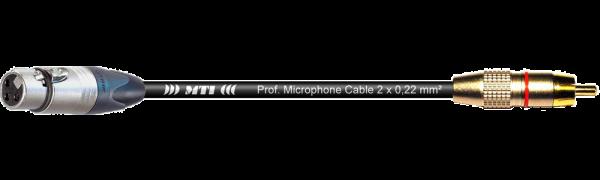MTI Digital Audio-Adapter, Neutrik XLR-fem. 3p./Cinch-gold, 0,2 m