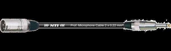MTI Digital Audio-Adapter, XLR-male 3p./Klinke 2p., 0,2 m