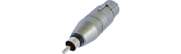 Neutrik Adapter, XLR 3p. Buchse-Cinchstecker
