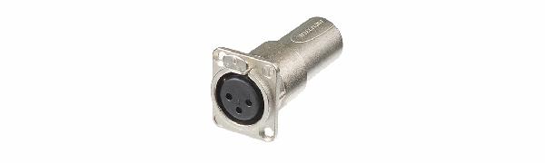 Neutrik Adapter, XLR 3p. Einb.-Buchse-Stecker, D-Serie