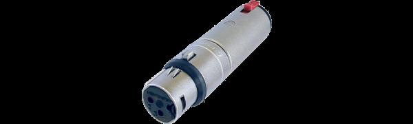 Neutrik Adapter, XLR 3p. Buchse-Klinkenbuchse