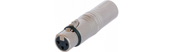 Neutrik Adapter, XLR fem./male 3p., Phasenwender