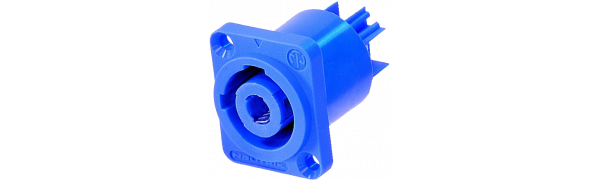 Neutrik powerCON, 3p. Netz-Einbaubuchse, blau, Power-In