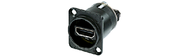Neutrik HDMI-Einb.-Durchgangsverb., D-Serie,Goldkontakte, sw