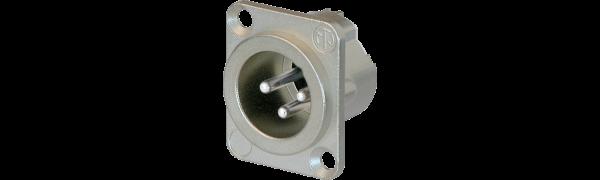 Neutrik XLR-3-p.,Einbaustecker, D-Serie