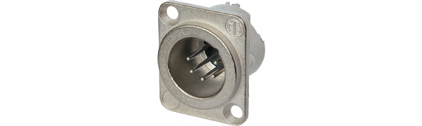 Neutrik XLR5-p., Einbaustecker,D-Serie