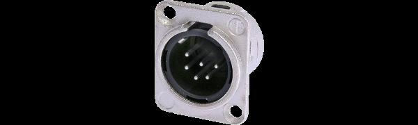 Neutrik XLR-6p.,Einbaustecker, D-Serie