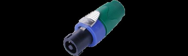 Neutrik Speakon LS-Kabelstecker,4-pol.,grüne Tülle