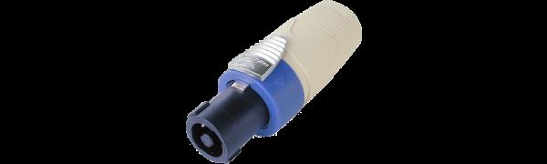 Neutrik Speakon LS-Kabelstecker,4-pol.,weiße Tülle