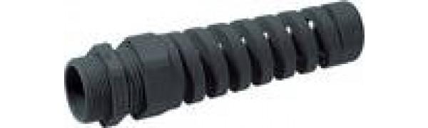 M20, Kunststoff-ZE., mit Spiralbiegeschutz, schwarz