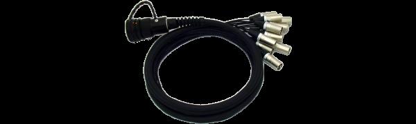 Spliss-Adapter, 6x XLR-male, TL19 female, PUR, 2,5 m