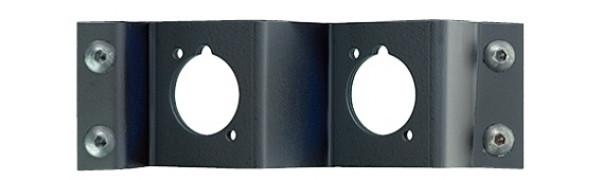 Neutrik opticalCON Platte für 2 Einbaubuchsen DUO/QUAD