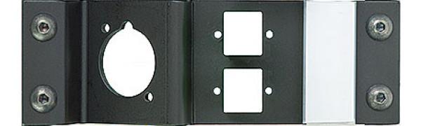 Neutrik opticalCON Platte für 1 Einbaubuchse DUO/QUAD und zwei E2000 Compact Buchsen