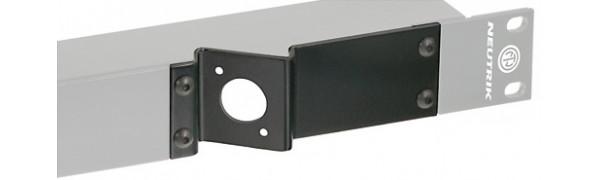 Neutrik opticalCON Platte für Einbaubuchsen DUO/QUAD mit Beschriftungsfeld