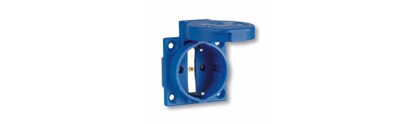 MTI-Schuko-Einbau-Kupplung, blau, 220 V