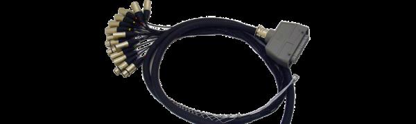 Spliss-Adapter, 12x XLR-male/4x XLR-fem, HAN64 male, PUR, 2,5 m