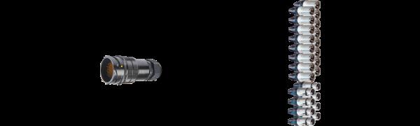 Breakout-Adapter, 16x XLR-male/8x XLR-fem., TL85 male, 0,7 m