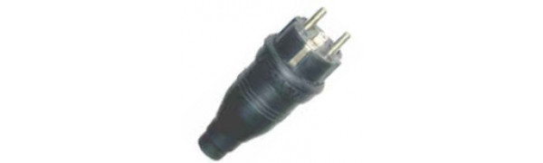 Erso-Schuko-Stecker Vollgummi, SW, 220 V, IP44