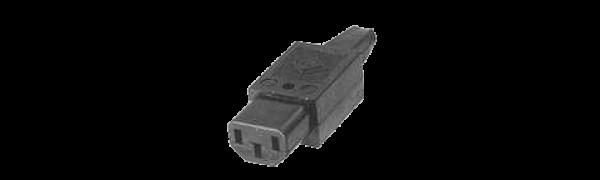 MTI-Kaltgeräte-Kabelbuchse, schwarz - 10 A