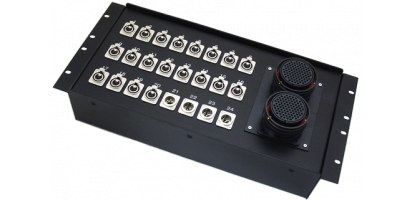 19''-Stagebox 20x XLR-fem./4x XLR-male, 2x TL85 male
