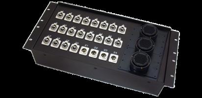 19''-Stagebox 20x XLR-fem./4x XLR-male, 3x TL85 female