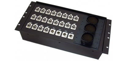 19''-Stagebox 20x XLR-fem./4x XLR-male, 3x TL85 male