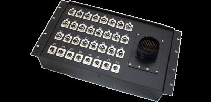 19''-Stagebox 24x XLR-fem./8x XLR-male, TL100 male
