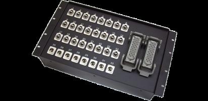 19''-Stagebox 24x XLR-fem./8x XLR-male, 2x HAN108 male