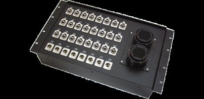 19''-Stagebox 24x XLR-fem./8x XLR-male, 2x TL100 female