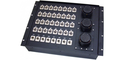 19''-Stagebox 32x XLR-fem./8x XLR-male, 3x TL150 female