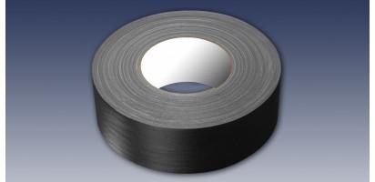 Textilklebeband-(Gaffatape), schwarz matt - 50 mm x 50 m