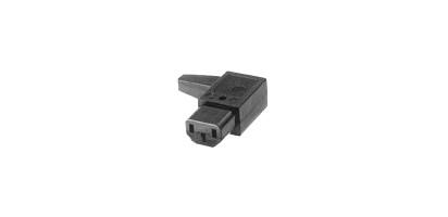 MTI-Winkel-Kaltgeräte-Kabelbuchse, schwarz - 10 A