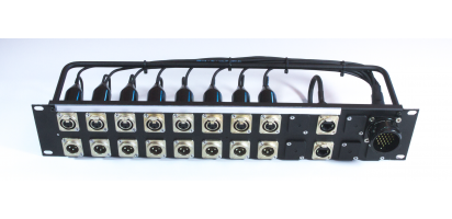 MTI Patchpanel 25pol. male/ XLR fem./male-8/8-1/1 Cat.5e-parallel