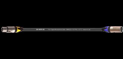 MTI DMX-Adapter, Neutrik XLR-fem. 3p.BXX-4/male 5p.BXX-6, 0,2 m