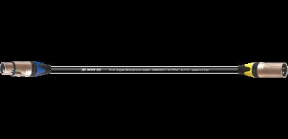 MTI DMX-Adapter, Neutrik XLR-fem. 5p.BXX-6/male 3p.BXX-4, 0,2 m