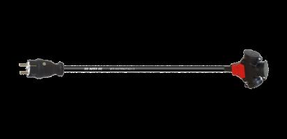 TITANEX Lastverlängerg., ERSO Schuko St./Bu. Vollgummi, 3x 1,5mm²