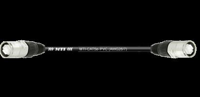 MTI CAT5e Ethernet-Kabel AWG26/7,schwarz,2x Neutrik Ethercon, 0,5 m