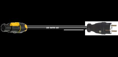 MTI-TITANEX Lastverlängerung, Schuko St. Gummi/PowerCon True1 TOP out, 3x 2,5mm²