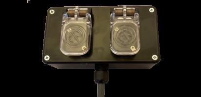 MTI Speaker-Kunststoff-Wallbox schwarz, 4x 2,5 mm², 2x Speakon parallel, IP65-Dichtklappen, 5,0 m