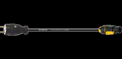 TITANEX Lastverlängerung, Schuko St. Gummi/PowerCon True1-FX-W TOP, 3x 1,5mm²