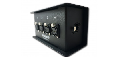 MTI ETHERNET/DMX-Splitbox Neutrik CAT5e/ 4x XLR-3p. fem., schwarz