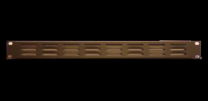 19'' U-Lüftungsblende, 1 HE, Stahl, pulverbeschichtet, schwarz