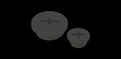 Blindstopfen-Kunststoff, M 25 schwarz