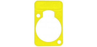 Neutrik Beschriftungsschild Einbau-D-Serie, gelb