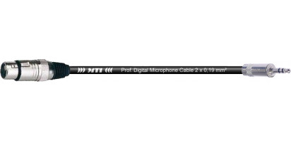 MTI Digital Micro-Cable, XLR-fem./Mini-Kl. 3p., br.