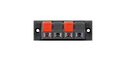LS-Litzenklemmleiste 2x rot-schwarz-codiert bis 2,5 mm²