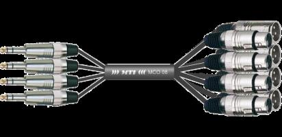 Y-Insert-Loom, 4x Klinke 3p./8x XLR-fem./male