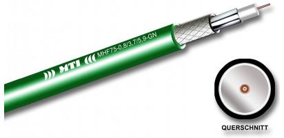 MTI Prof. HF-Kabel, 75 Ohm, FRNC, grün, SDI