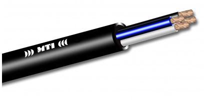 MTI Prof. Speaker-Multicore-Cable, 4x 4,0mm²,2x 2x 0,22mm², schwarz