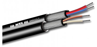 MTI Prof. Twinline Micro-Cable, 2x2x0,22mm², sw